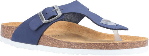 NAVY KAYLA SLIP ON SANDAL