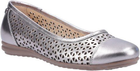 GREY LEAH BALLERINA PUMP