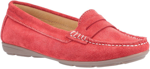 RED MARGOT SLIP ON LOAFER