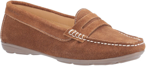 TAN MARGOT SLIP ON SHOES