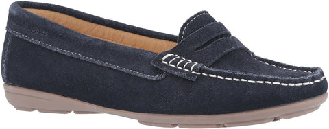 NAVY MARGOT SLIP ON LOAFER