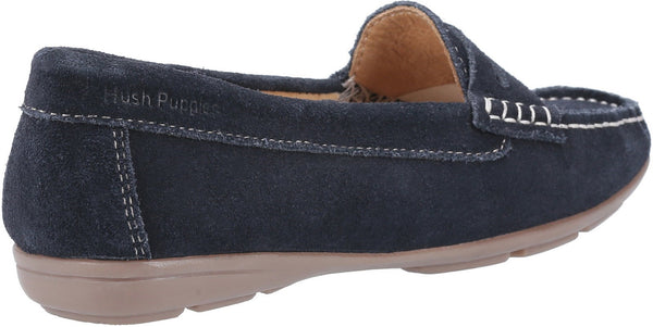 NAVY MARGOT SLIP ON SHOES