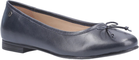 NAVY NAOMI SLIP ON BALLET PUMP