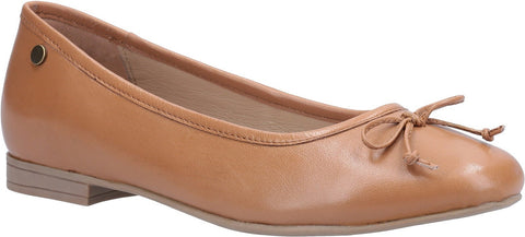 TAN NAOMI SLIP ON BALLET PUMP
