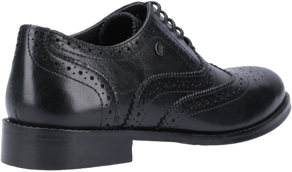 BLACK NATALIE BROGUE LACE UP SHOE