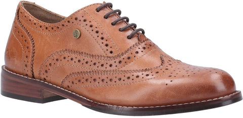 TAN NATALIE BROGUE LACE UP SHOE