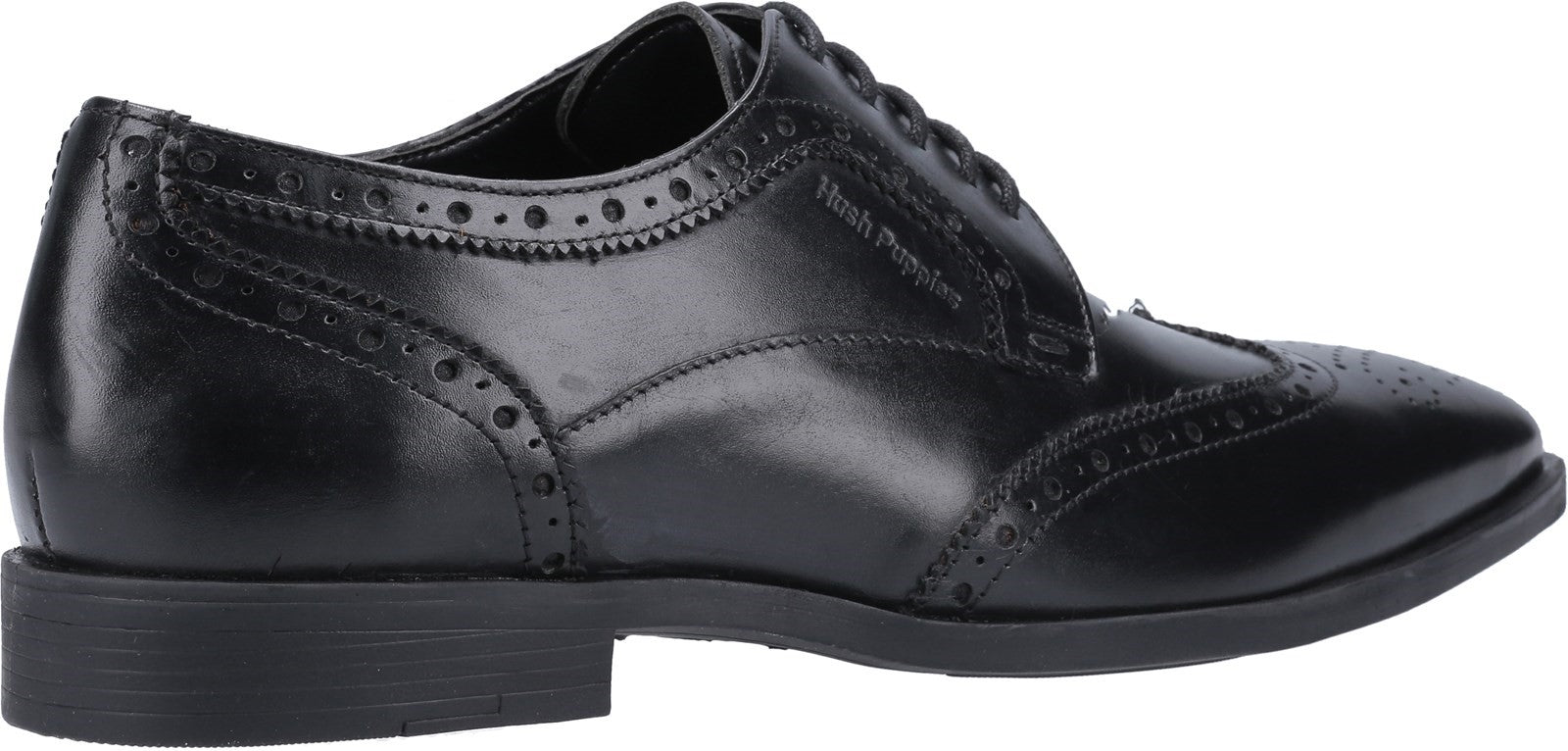 BLACK Brace Brogue Lace Up Shoe