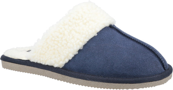 BLUE ARIANNA MULE SLIPPERS