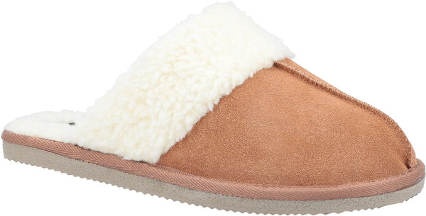BROWN ARIANNA MULE SLIPPERS