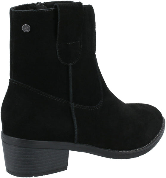 BLACK IVA LADIES ANKLE BOOTS