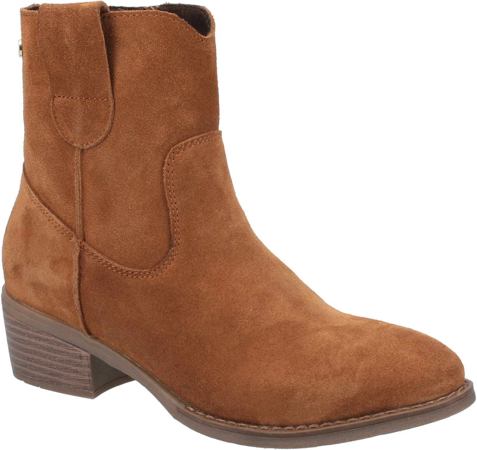 TAN IVA ANKLE BOOTS