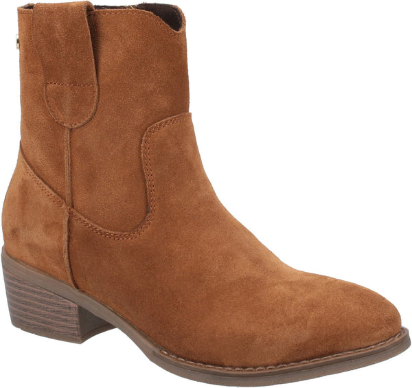 BROWN IVA LADIES ANKLE BOOTS