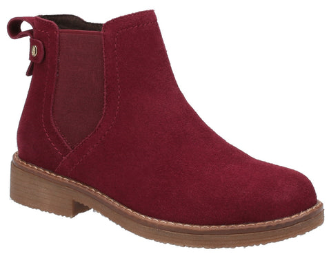RED MADDY LADIES ANKLE BOOTS