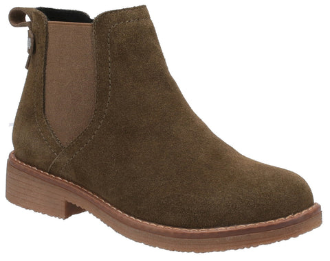 KHAKI MADDY LADIES ANKLE BOOTS
