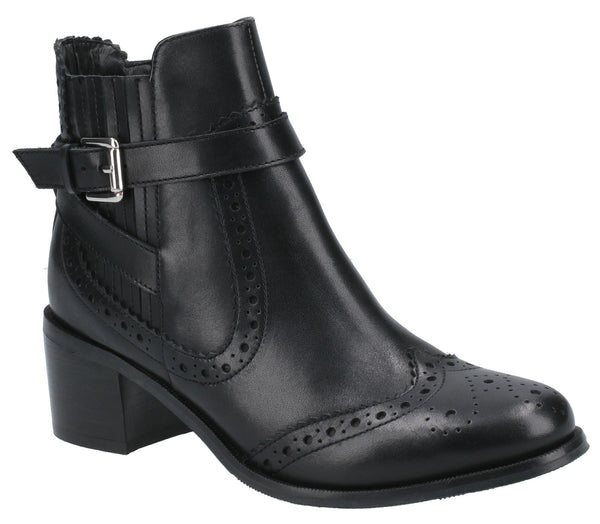 BLACK RAYLEIGH LADIES ANKLE BOOTS
