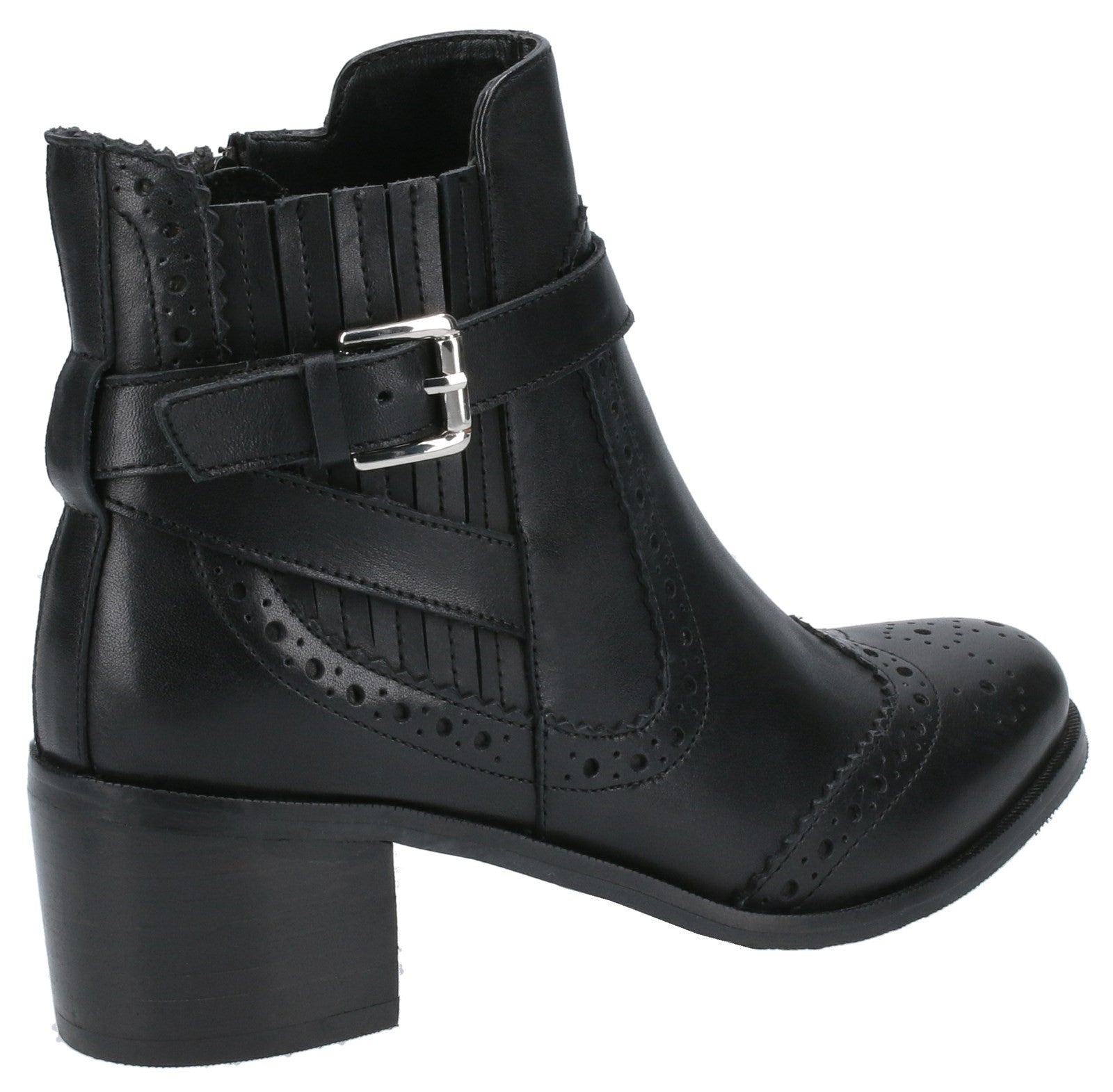 Hush Puppies Womens Rayleigh Leather Ankle Boots