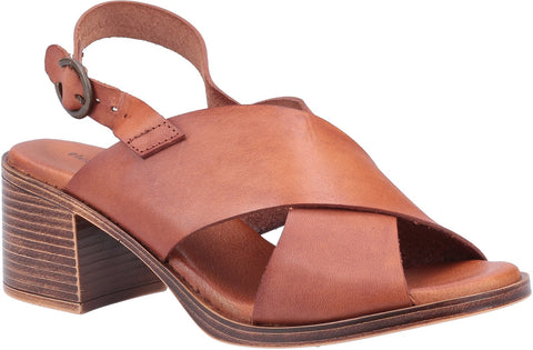 BROWN GABRIELLE HEELED SANDAL