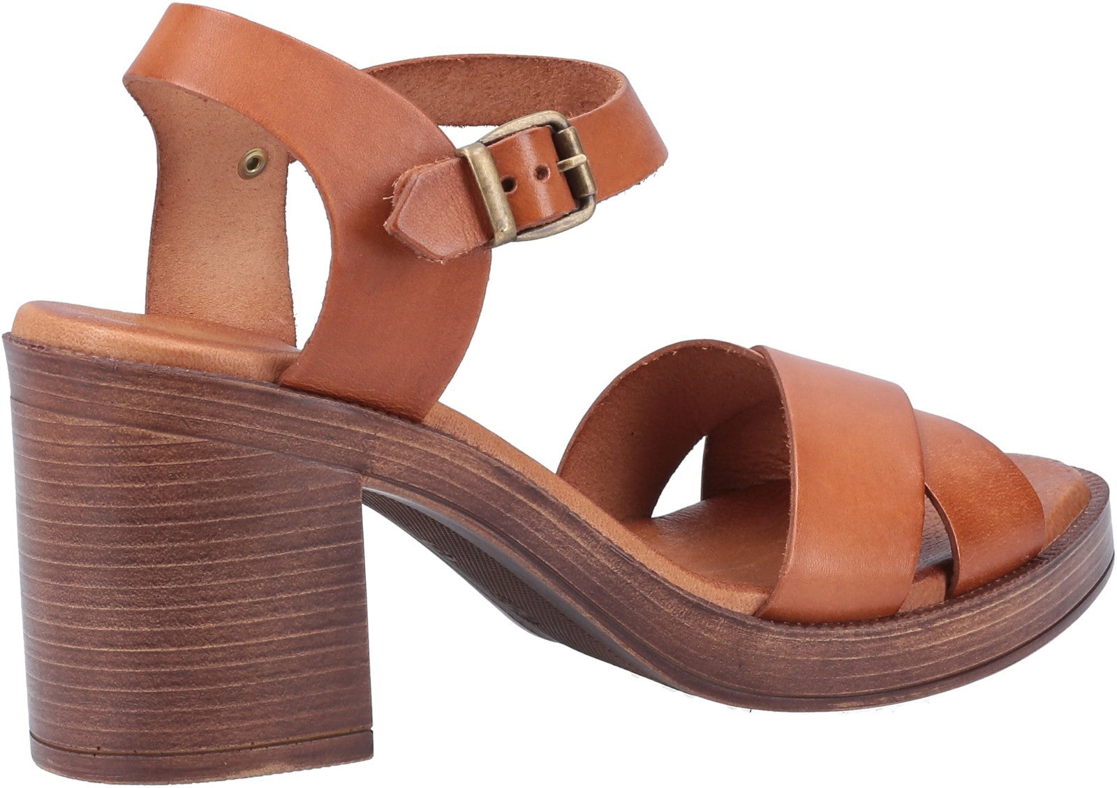 TAN GEORGIA HEELED SANDAL