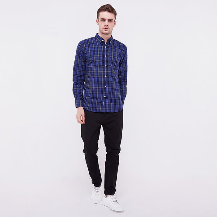 Plaid 01 L/S Shirt - Blue