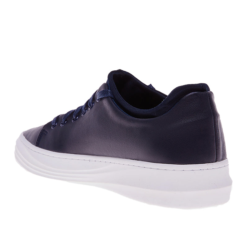 Accent Leather Sneakers 103 - Navy