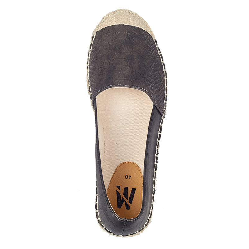 Woman Snake Skin Espadrilles - Brown