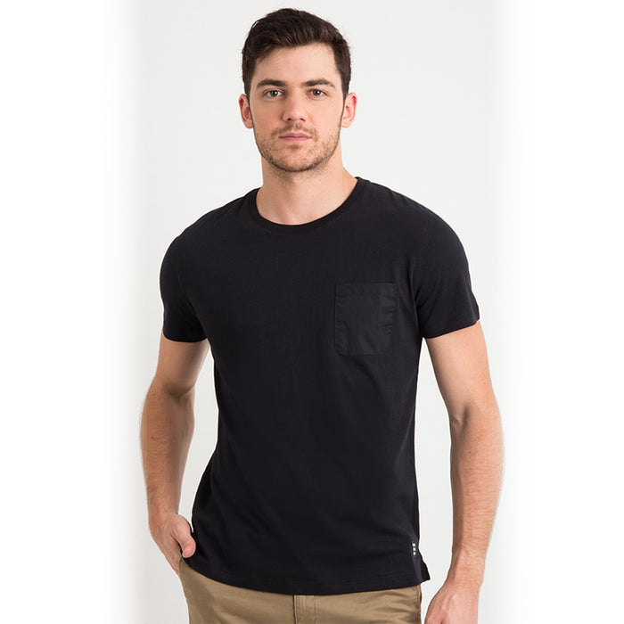 Cotton Basic Pocket S/S Tee - Black