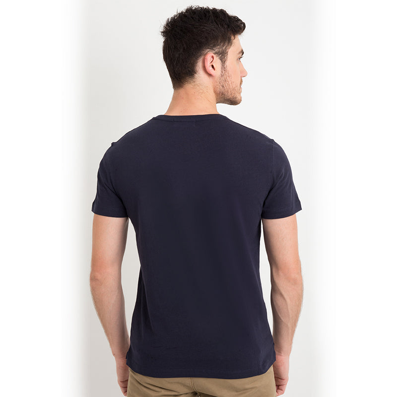 Cotton Basic Pocket S/S Tee - Navy