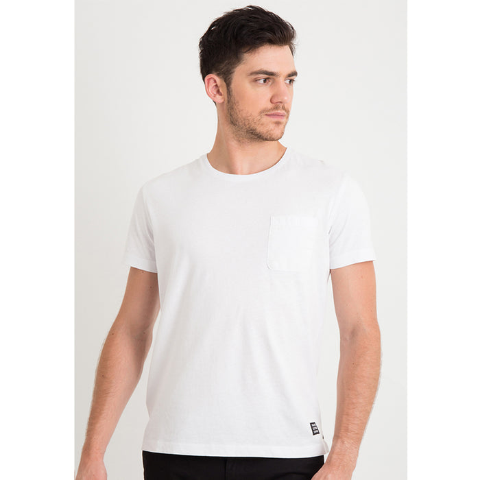Cotton Basic Pocket S/S Tee - White
