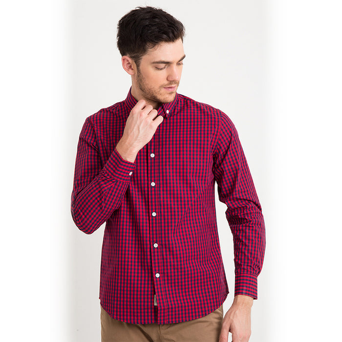 Gingham 011 L/S Shirt - Red