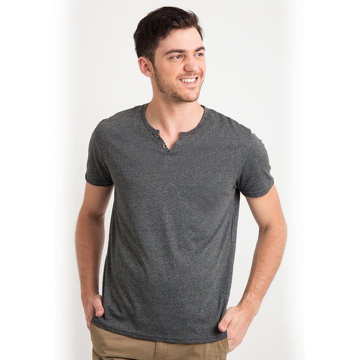 Henley One S/S Tee - Grey