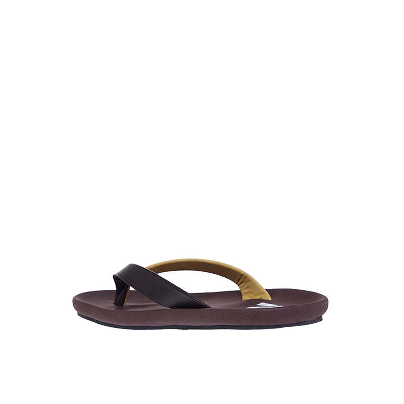 Dual Colour Sandals - Coffee