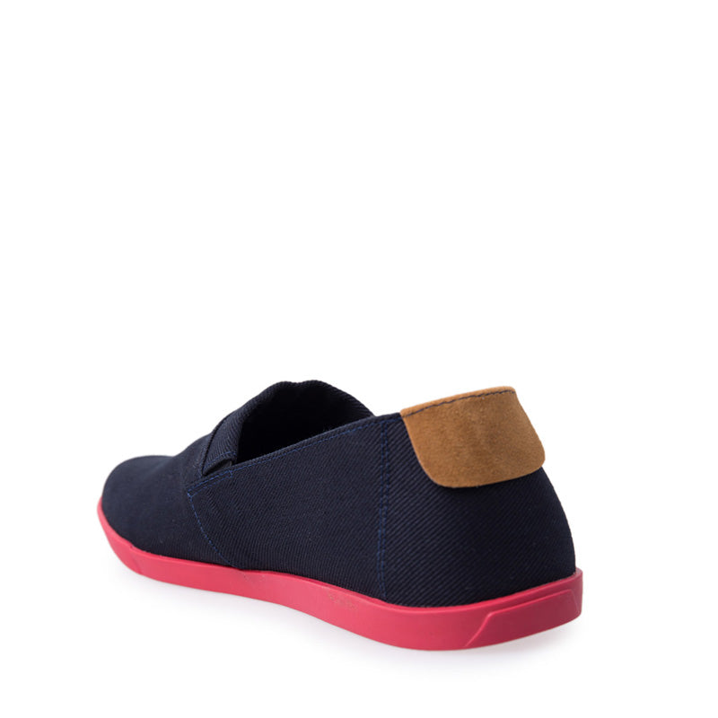 Canvas Slip-On NB013 - Blue Red