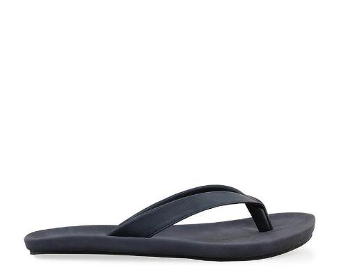 Basic Faux Leather Sandals - Blue