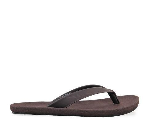 Basic Faux Leather Sandals - Brown