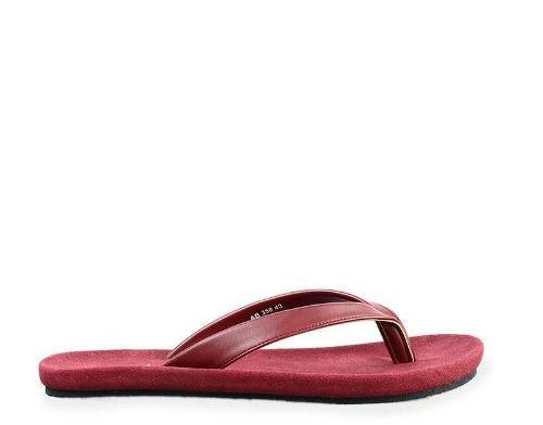 Basic Faux Leather Sandals - Red