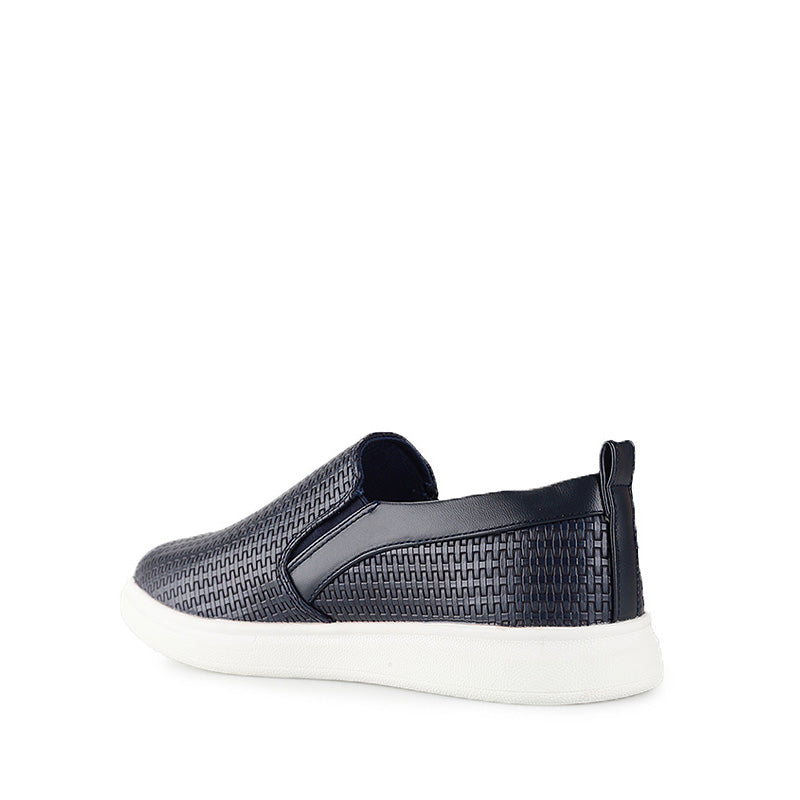 Emboss Weave Slip-On - Black