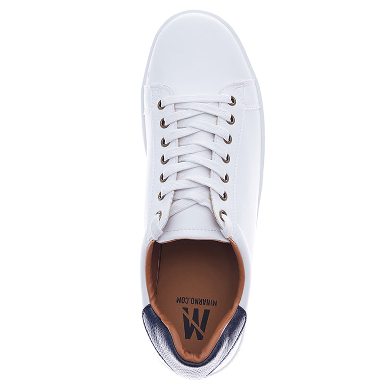 Emerson Leather Sneakers - White Blue