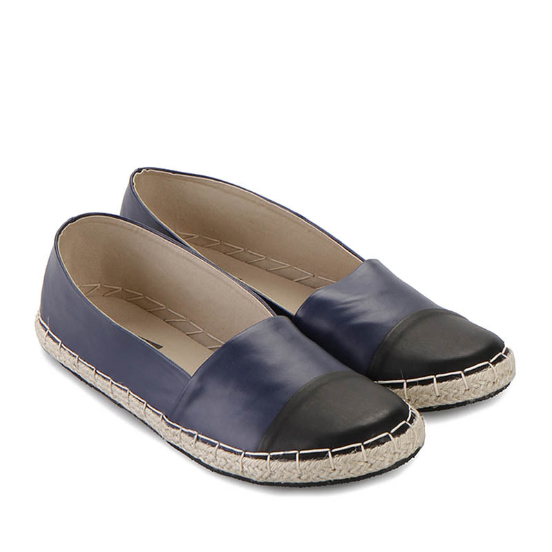 Woman Faux Leather Espadrilles - Blue