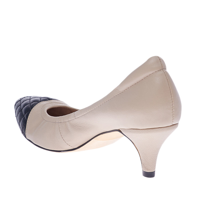 Woman Hailey Leather Heels - Cream