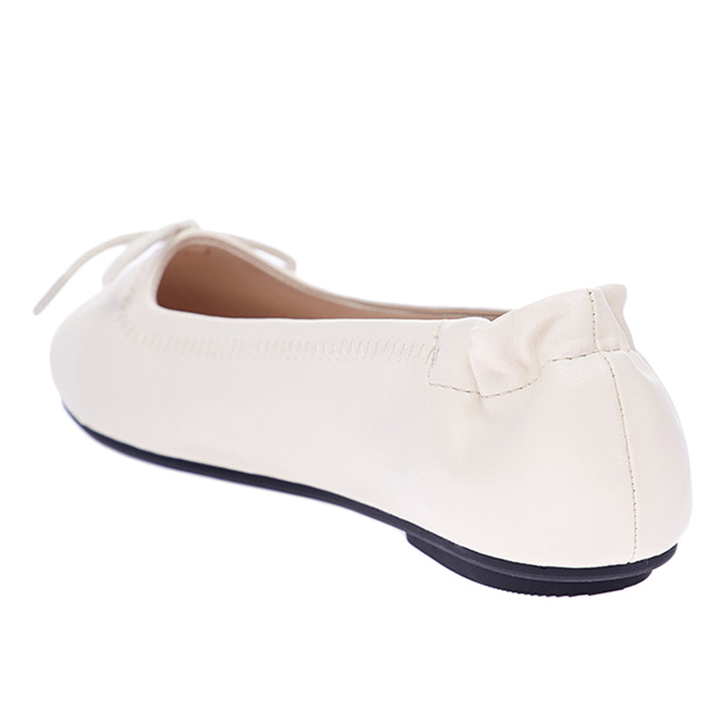 Woman Julie Ballerina Flats - Cream