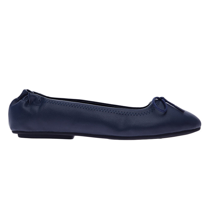 Woman Julie Ballerina Flats - Navy