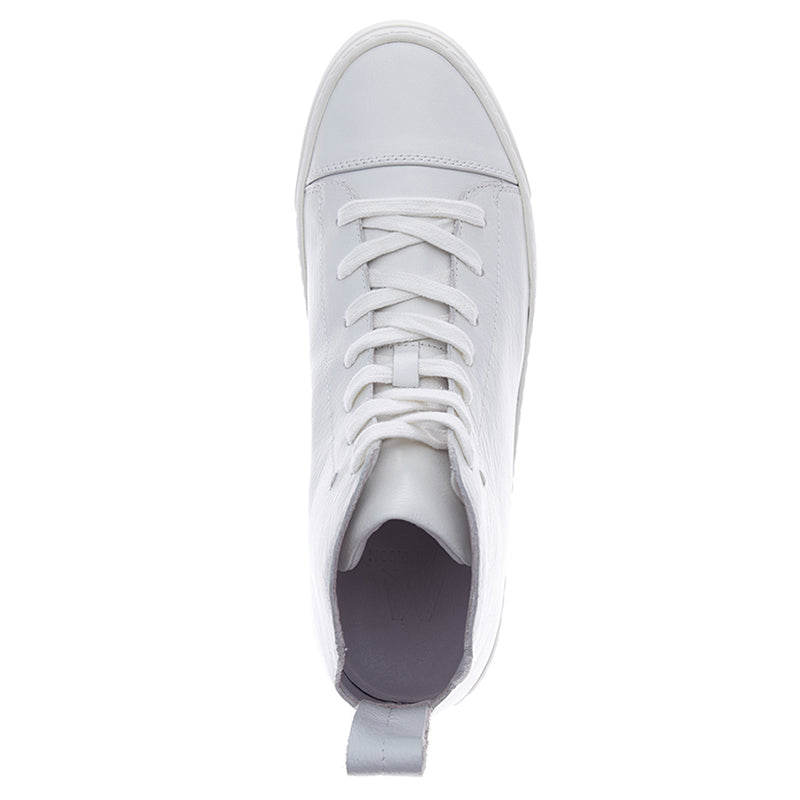 Justin Leather Sneakers - White