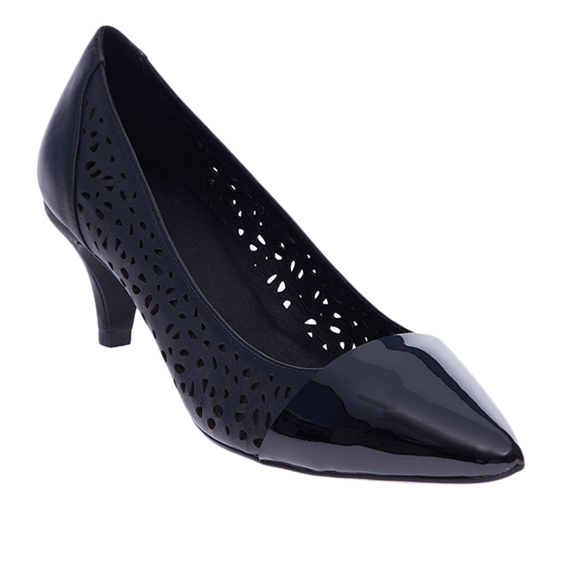 Woman Katrina Leather Heels - Black