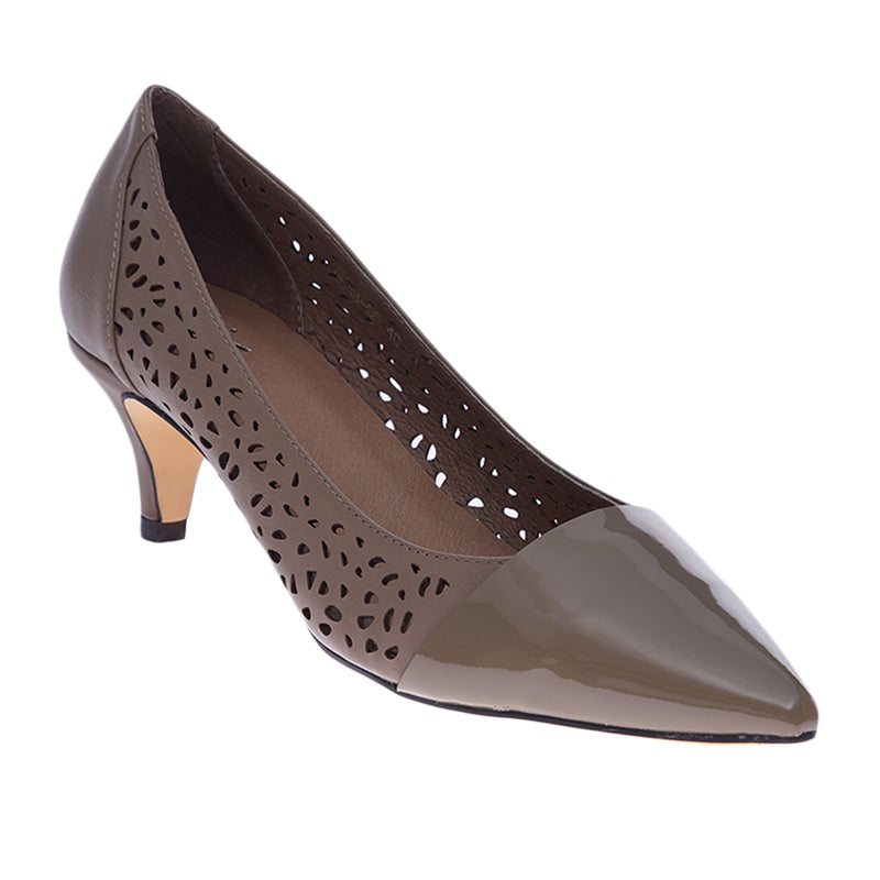 Woman Katrina Leather Heels - Grey
