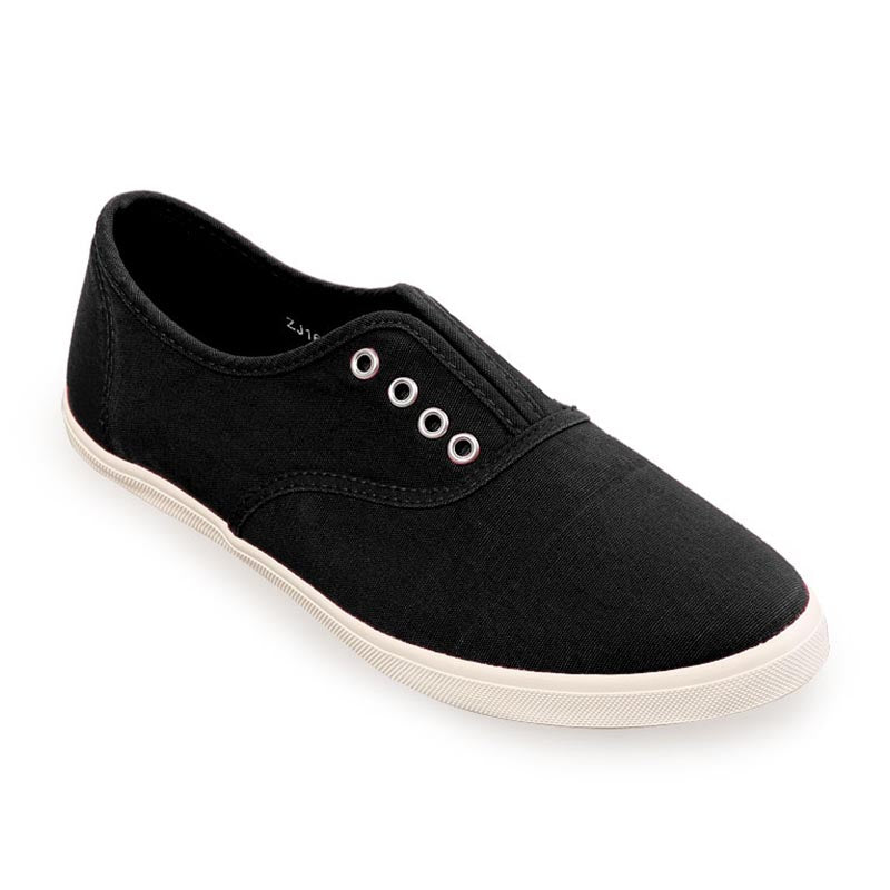 Woman Laceless Sneakers - Black