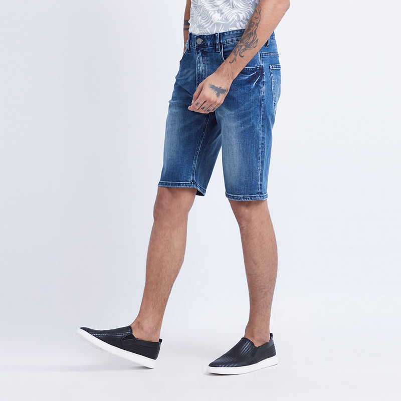 Coppell Denim Shorts - Blue