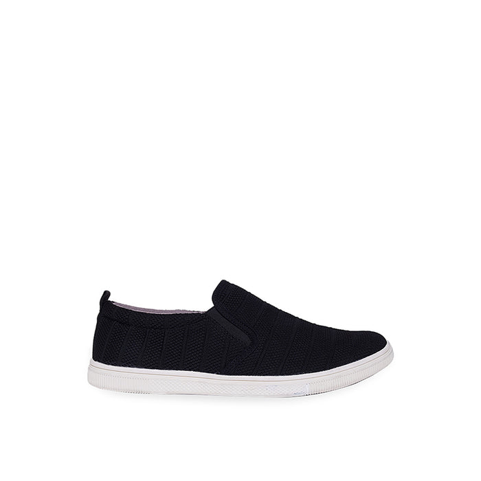 Fabric Slip-On ZZ - Black