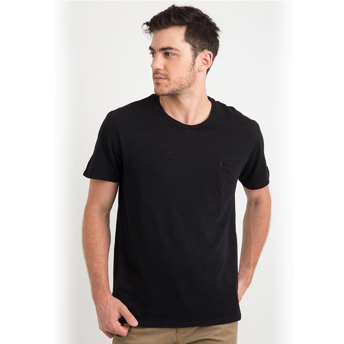 Rayon Pocket S/S Tee - Black