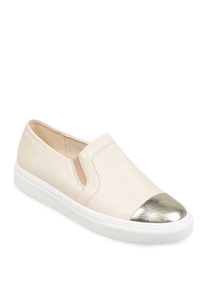 Woman Gold Tip Slip-On Ls 8166 - Cream