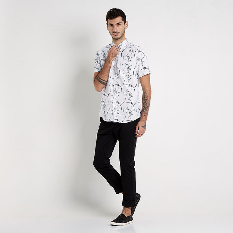 Abstract 02 S/S Shirt - White